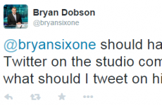 So Bryan Dobson left his Twitter logged on in RTÉ last night...