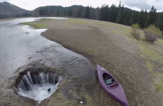 This lake completely disappears once a year