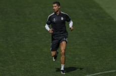 Ronaldo's legs have gotten so big he could use them like a Bond villain and strangle someone