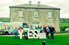 The Father Ted house got a wonderful visit from the Yes campaign