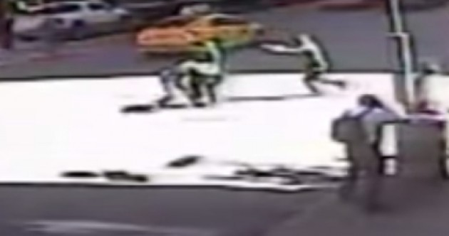 WATCH: Hammer-wielding man shot in the street as he attacks police