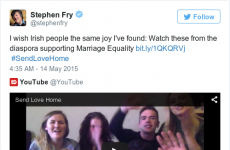Stephen Fry just shared this touching video of Irish diaspora appealing for a Yes vote