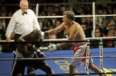 Here's 68-year-old Mitt Romney 'knocking down' former world champ Evander Holyfield