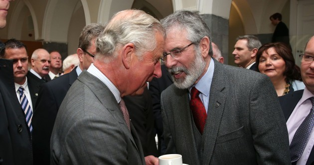 Gerry Adams and Prince Charles just shared a historic handshake