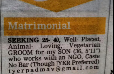 An Indian mam put a gay marriage ad in the paper for her son