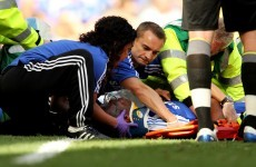 Drogba hospitalised after sickening collision (Video)