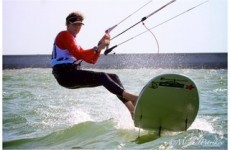 Imagine travelling 100kph on a board in the ocean… that's kitesurfing