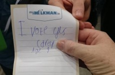 'I vote Yes': A kid slipped this adorable note into a ballot box in Dublin
