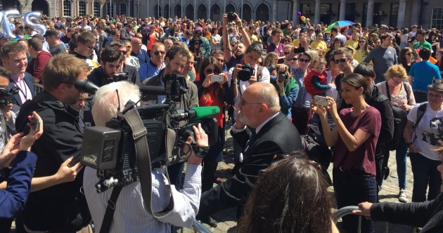 David Norris got an amazing reception at Dublin Castle this afternoon