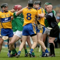 Did the referee have any choice but to brandish red to Pat Donnellan after this scuffle in Thurles?