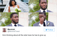 This guy had the perfect response when his wedding photo was turned into a meme
