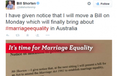 Ireland's Yes vote has inspired Australia's opposition leader to tweet this