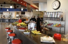 How often do Google staff pay for their lunch?