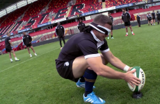 The Baa-Baas' outrageous skill-set now extends to blindfolded place-kicking