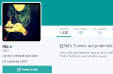 Spare a thought for the woman who owns the @fifa Twitter account
