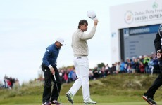 A home favourite has stormed to the top of the Irish Open leaderboard