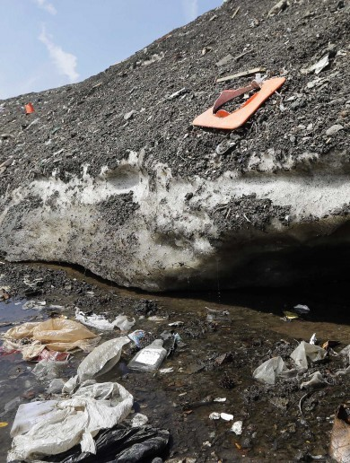 It's 30 degrees in Boston, but there are still massive piles of filthy snow on the ground