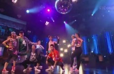 George Hook grabbed his crotch during a hip-hop routine on The Late Late Show