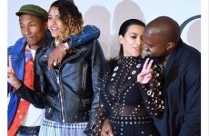 Pharrell saved Kim Kardashian from a burning dress - by jumping on her