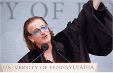 Bono popped up on English Paper I and people couldn't handle it