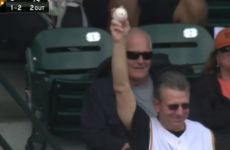 A dead sound Pirates fan threw his ball to a girl and her reaction would melt a heart of stone