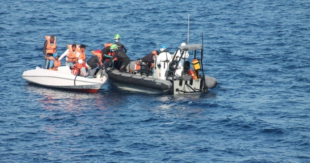 """Dehydrated but alive"": Irish Naval ship LÉ Eithne rescue migrants off the coast of Italy"
