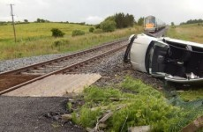 Pictures: This is why level crossing gates exist...