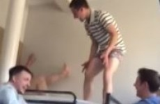 Check out these Irish guys' brilliant bunkbed challenge fail