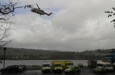 26 people have been rescued from the freezing River Foyle after their canoes capsized