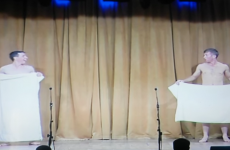 These two Cavan lads do a mean version of the cheeky 'towel dance'