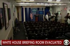 Reporters flee live televised White House press briefing over bomb threat