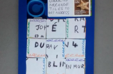 An Post managed to deliver this word puzzle to an RTÉ DJ