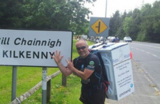 The inspiring story behind a man carrying a washing machine around Ireland