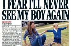 The front page of today's Daily Mail features a deeply unfortunate headline and photo combo