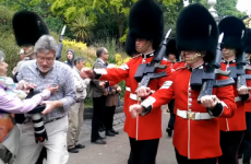 This is what happens when you get in the way of the Queen's Guard