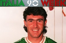 'I was more nervous in training than in games' -- Alan McLoughlin on Italia 90