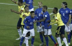 Neymar sent off amid ugly scenes as Brazil lose to Colombia at Copa America