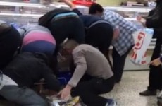Video: Tesco shoppers filmed fighting over reduced-price meat