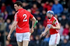 Another defensive injury setback for the Cork senior hurlers