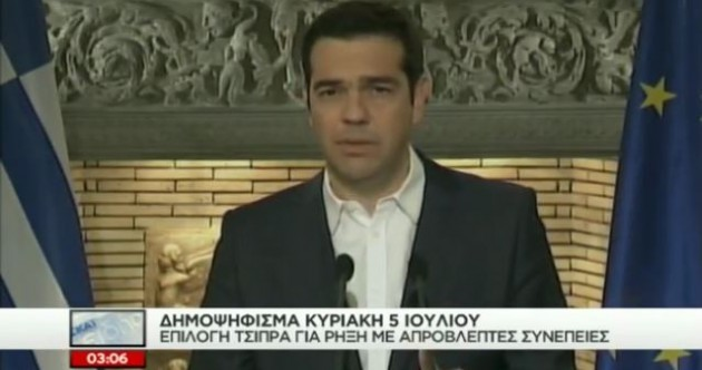"""Let the people decide"" - Greece will hold referendum on bailout deal"
