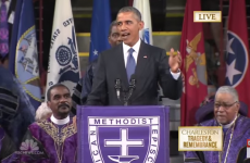Barack Obama delivers rousing eulogy for those killed in hate crime