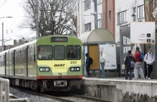 The Dart was delayed after a naked man got onto the tracks