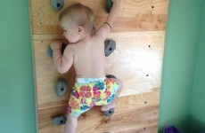 This toddler is able to scale a 7-foot climbing wall