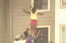 Girls jump from window to escape fire in their home