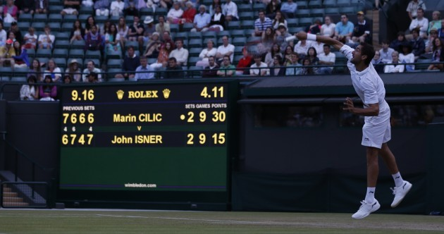 After more than 4 hours and 2 days, the Isner v Cilic mini-marathon is finally over