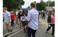 Hillary Clinton dragged reporters around with a rope and it went horribly viral