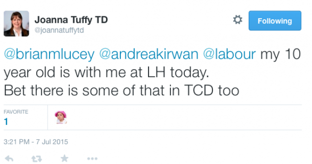 Labour TD insists she wasn't suggesting parents bring their children to work