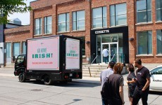 This 'go home Irish' ad has created quite a buzz on the streets of Toronto