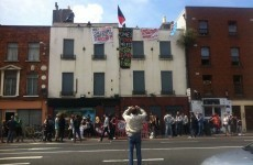 A vacant hostel has been reclaimed by housing activists