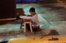 These photos of a homeless boy doing his homework went viral and changed his life